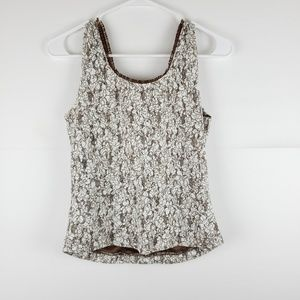 Christopher & Banks Tops - Christopher & Banks Lace Tank Size Small
